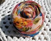 Sheer Floral Machine Cut Fabric Yarn