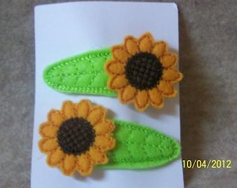 Sunflower Snap Barettes