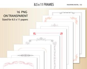 16 Clipart Design Elements for invitations, digital border, border clip art, Digital frame, Clip Art Designs 532