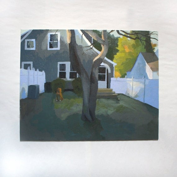 "landscape painting - original art - ""Backyard"""