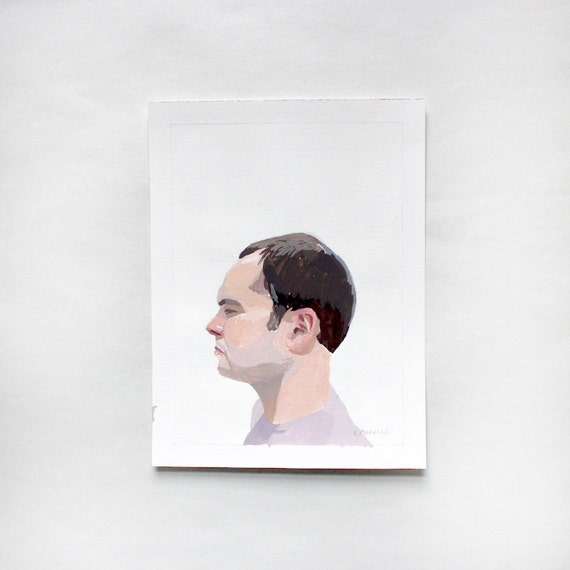 "SALE! original portrait - man in profile - ""Steve 3"""