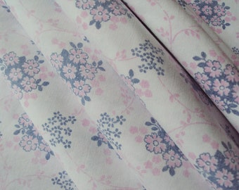 Vintage French Faded Fabric Small Pink and Grey Flowers Suitable for Patchwork Quilting Lavender Bags Feedsack Pillow