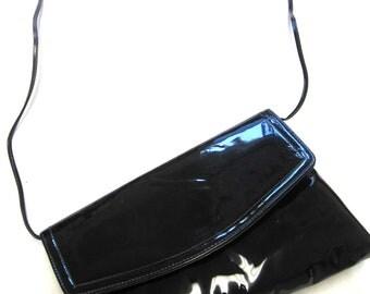 Vintage Black Glossy Purse