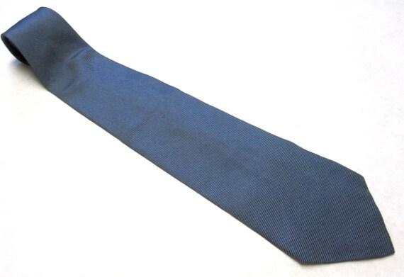 """Vintage Necktie Calvin Klein 80's Silk Tie 3.75""""  Wide Gray Black"""