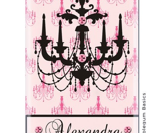 CUSTOM Phone Case iPhone 6 6 Plus 5/5S 5C 4/4S Samsung Galaxy S4 S5 - Light Pink Chandelier Name Band - Monogram Personalized
