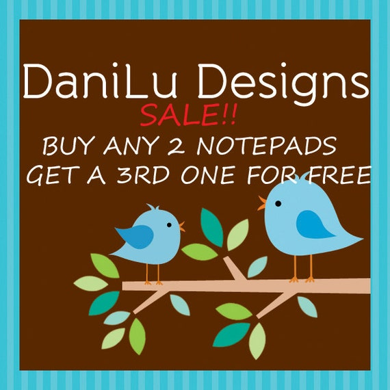 Reserved for Sophie Personalized Notepads-Buy 2 Get 1 Free
