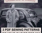 3 PDF sewing patterns of your choice