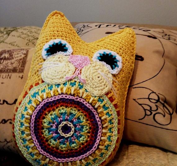 Fat Cat Pillow PDF Crochet Pattern Instant Download Toy Babies