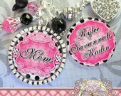 Personalized Mother Keychain Bottle cap (or Necklace), Aunt, Grandma Jewelry Children's Names, Grandmother, Nana, Mother, Gift Present, Mimi