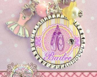 Children's Ballet Jewelry, BALLERINA NECKLACE, Ballerina Slippers, Personalized Necklace, Ballet, Dance Recital, Tutu, Dance, Dancer