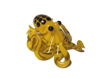 Yellow Octopus Pendant