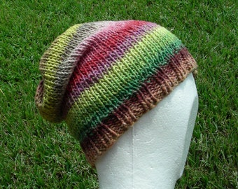 Slouch Hat, Tam, Beanie, Beret, Stocking Cap Green Purple Pink Taupe Multicolored