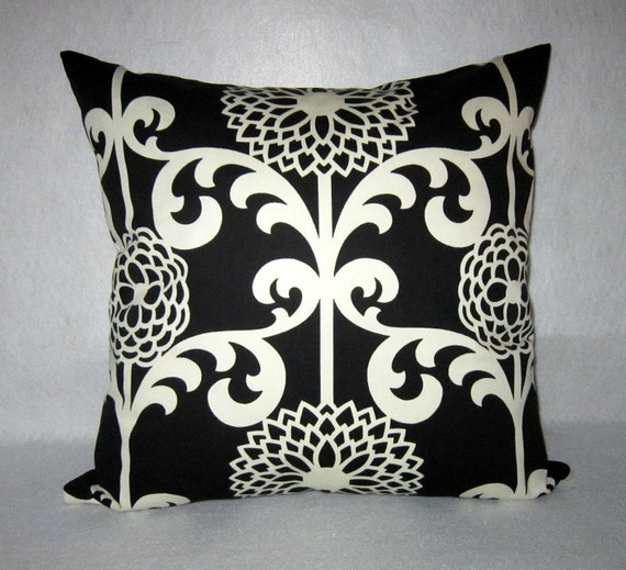 Funny Throw Pillow Covers : Decorative Pillow cover in Fun Floret by PillowLoftHomeDecor