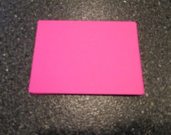 25 Large Hot Pink Rectangle Punches Die Cuts Embellishments 4 inch --