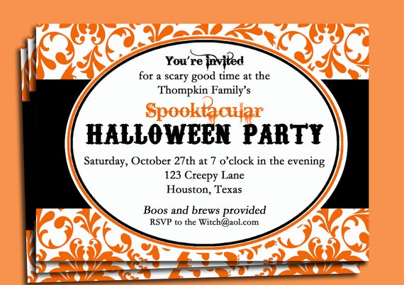 Doc Halloween Party Invite Wording 18 Halloween Invitation – Halloween Birthday Invitation Wording