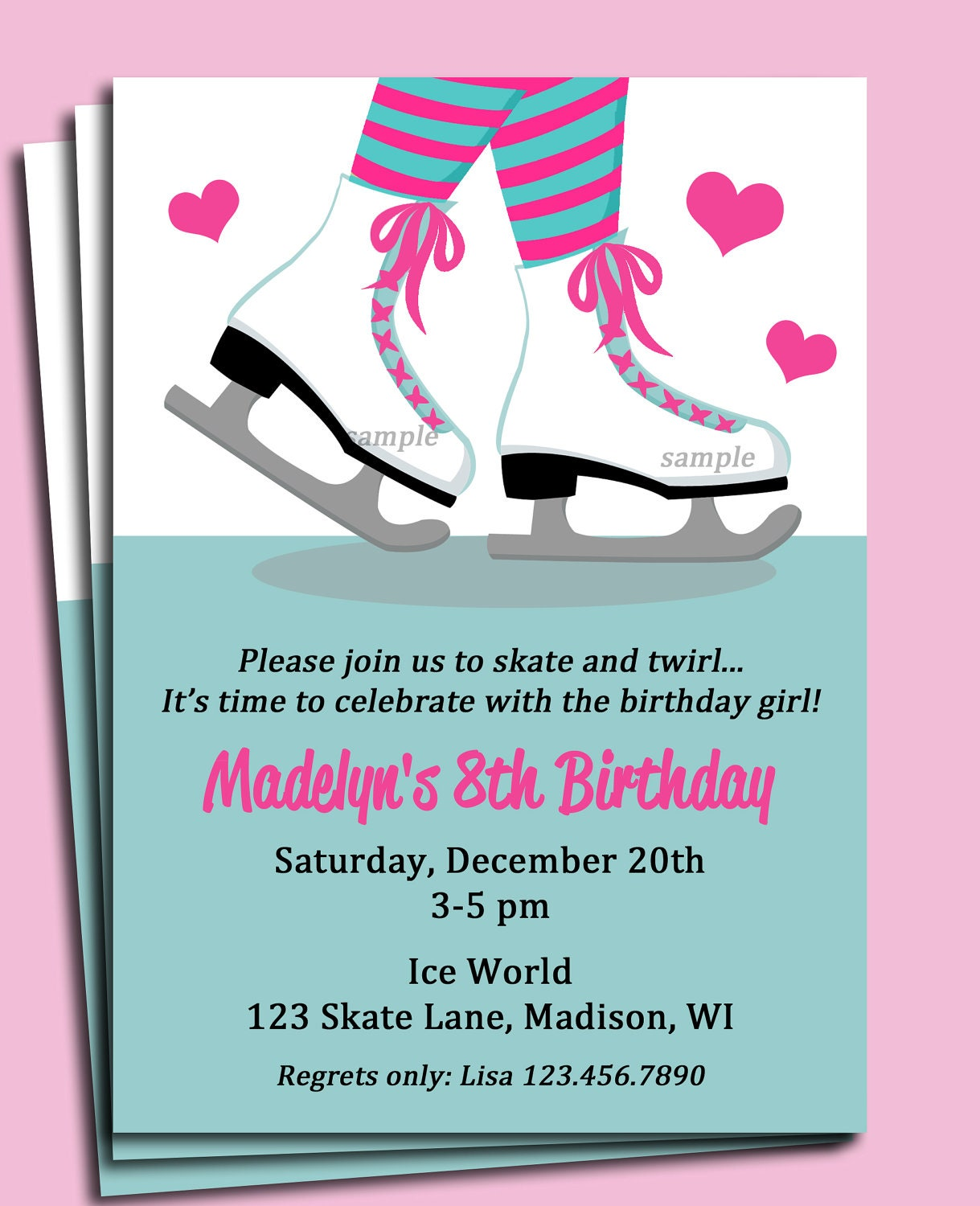 Ice Skating Party Invitations
