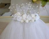 Custom hand made tulle bridal veil
