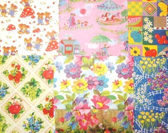 Vintage Wrapping Paper - 12 Assorted All Occasion Gift Wrap Sheets in Box