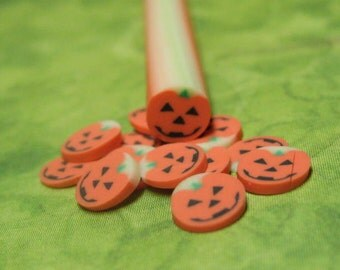 DIY Pumpkin Polymer clay cane uncut 1pc for miniature foods decoden and nail art supplies 5mm