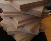 """7 4 x 4"""" MDF Blanks 1/4"""" strong for mosaic assemblage classes"""