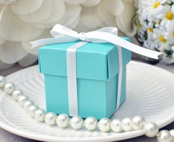 10 Tiffany Blue Inspired Favor Boxes