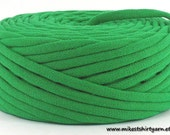 Recycled Tshirt Yarn Kelly Green 43 Yards Super Bulky Crafting Cord