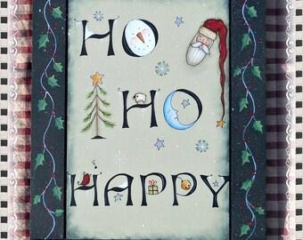 E PATTERN - Ho Ho Happy - Fun Christmas design from Terrye French & me, Sharon B - FAAP