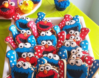 Sesame Street Elmo & Cookie Monster Sugar Cookies - 1 DOZEN