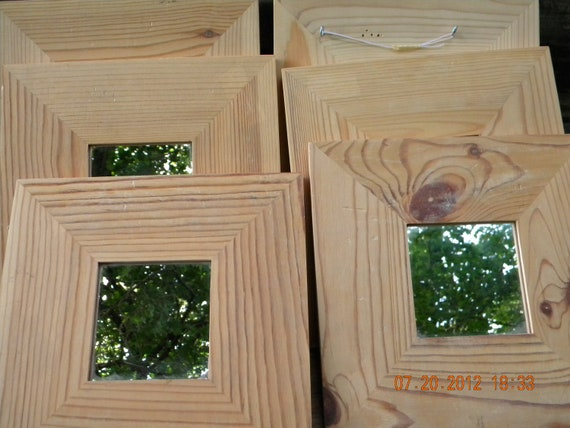 Wood Framed Mirrors pine crafts supplies