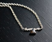Val - Gray Diamond Chip Triangle Necklace