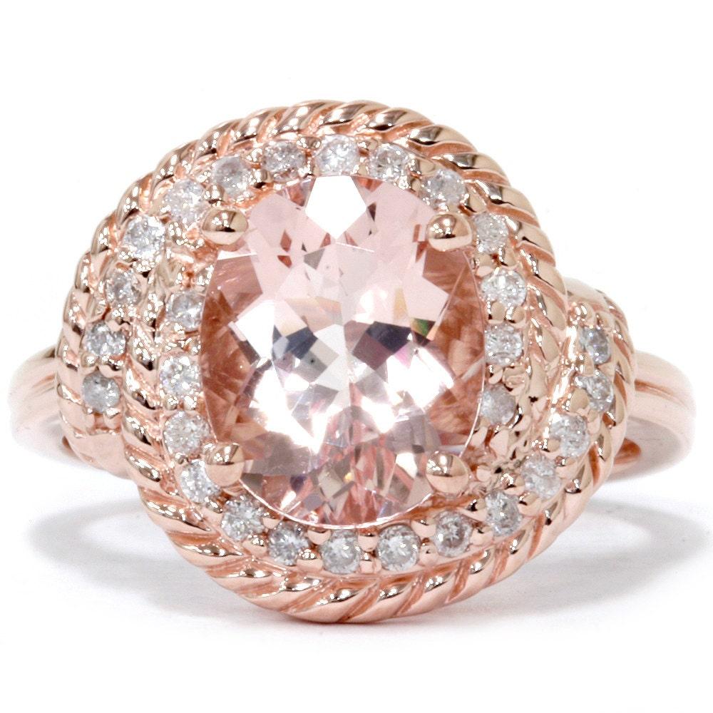 rose gold morganite diamond ring morganite diamond. Black Bedroom Furniture Sets. Home Design Ideas