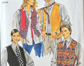 New Look 6453, Unisex Vest and Tie Pattern, All Sizes in One Patttern