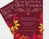DIY Thanksgiving Themed  Invitation - Personalized Printable