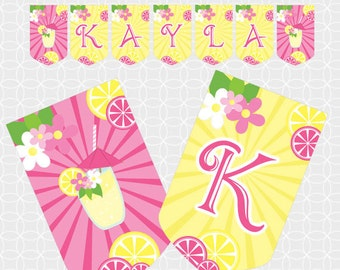Party Printable Lemonade Party Banner - Personalized Printable, summer