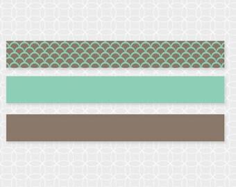 Party Printable DIY EID Mubarak Mini Flags, Straw Flags - Instant Download