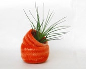 Felted bowl orange  - Cozy little storage - block ombre color nesting pumpkin bowls set of two - wool vessel