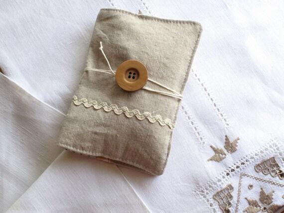 Pin cushion, sewing kit, travel sewing kit, embroidery kit. Zakka style. Portable sewing kit. Oatmeal linen. Ready to ship.