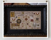 Viktor and Irina : Plum Street Samplers cross stitch patterns Lion and lamb March quaker hand embroidery
