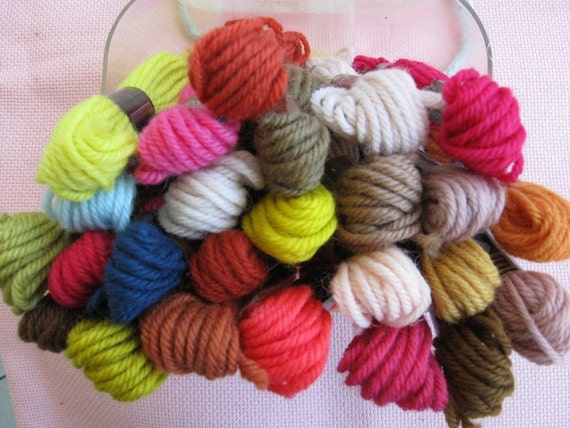 DMC Tapestry yarns imported from France, 25 skeins each 8.7 yards, assorted colors