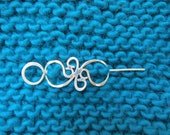 Sterling Silver Filigree Shawl Pin
