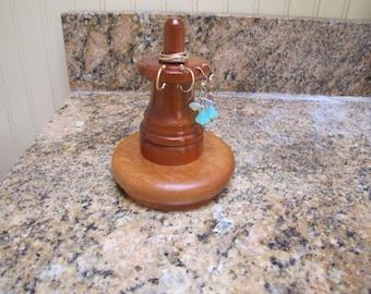 earring holder jewelry organizer mahogany ready to ship