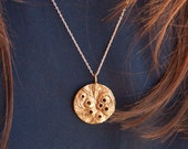 Pleiades Seven Sisters Constellation Necklace - Golden Brass