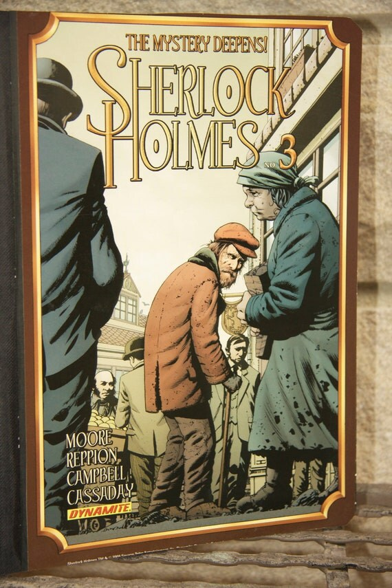 Sherlock Holmes and Watson Comic Composition Notebook