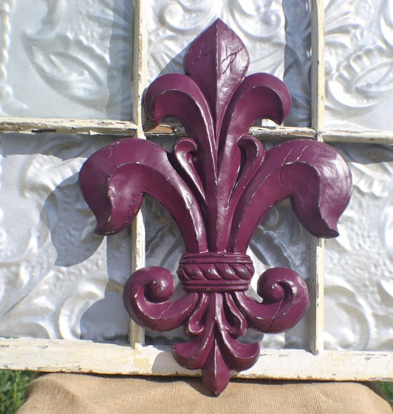 Items similar to large fleur de lis wall decor home for Fleur de lis home decorations