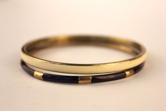 Cream, Gold and Brown Vintage Bangles, Perfect Combination, Arm Candy, Festival Chic.