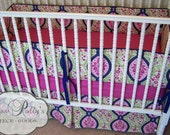 Baby Bedding- Design Your Own Crib Set- Secret Garden in Berry