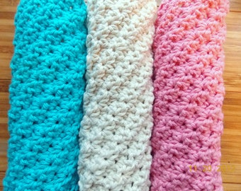 Little Bursts Luxurious Spa Cloth Exfoliating Washcloth Crochet Pattern PDF