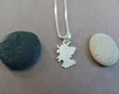 Tiny Scotland Necklace (sterling silver)