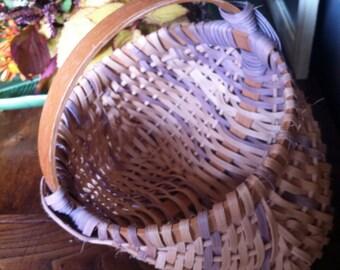Vintage Small handmade egg gathering basket