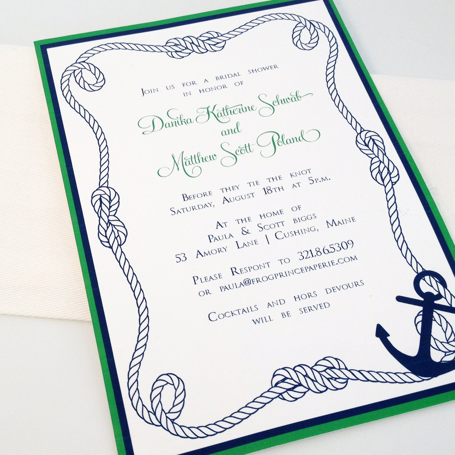 free nautical bridal shower invitations - 28 images - modern ...